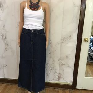 Vintage Gap Denim Maxi Skirt